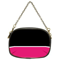 Black Pink Line White Chain Purses (one Side)  by Mariart