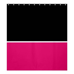 Black Pink Line White Shower Curtain 66  X 72  (large)  by Mariart