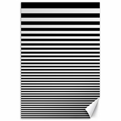 Black White Line Canvas 20  X 30   by Mariart