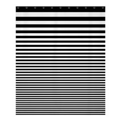 Black White Line Shower Curtain 60  X 72  (medium)  by Mariart