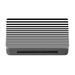 Black White Line Memory Card Reader With Cf by Mariart