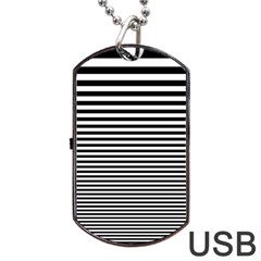 Black White Line Dog Tag Usb Flash (one Side) by Mariart