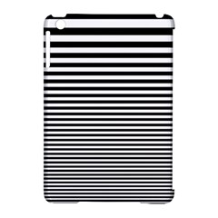 Black White Line Apple Ipad Mini Hardshell Case (compatible With Smart Cover) by Mariart