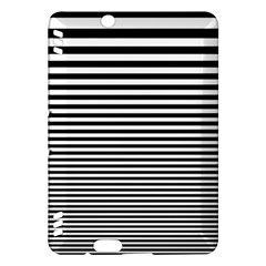 Black White Line Kindle Fire Hdx Hardshell Case by Mariart