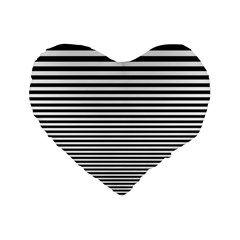 Black White Line Standard 16  Premium Flano Heart Shape Cushions by Mariart