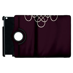 Black Cherry Scrolls Purple Apple Ipad 3/4 Flip 360 Case by Mariart