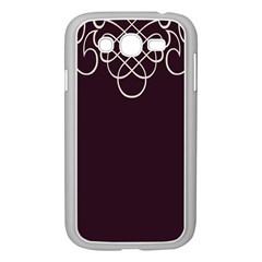 Black Cherry Scrolls Purple Samsung Galaxy Grand Duos I9082 Case (white) by Mariart