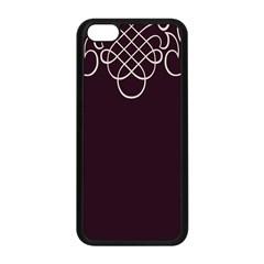 Black Cherry Scrolls Purple Apple Iphone 5c Seamless Case (black) by Mariart