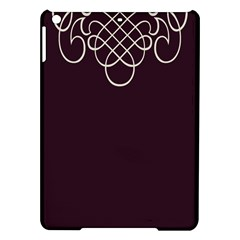 Black Cherry Scrolls Purple Ipad Air Hardshell Cases by Mariart