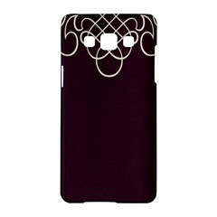 Black Cherry Scrolls Purple Samsung Galaxy A5 Hardshell Case  by Mariart