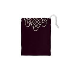 Black Cherry Scrolls Purple Drawstring Pouches (xs)  by Mariart