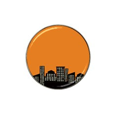 City Building Orange Hat Clip Ball Marker by Mariart
