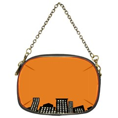 City Building Orange Chain Purses (one Side)  by Mariart
