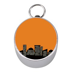 City Building Orange Mini Silver Compasses by Mariart