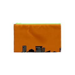 City Building Orange Cosmetic Bag (xs) by Mariart