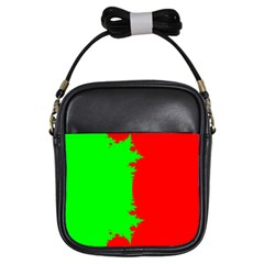 Critical Points Line Circle Red Green Girls Sling Bags by Mariart