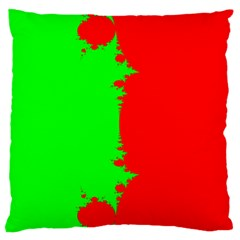 Critical Points Line Circle Red Green Standard Flano Cushion Case (one Side) by Mariart