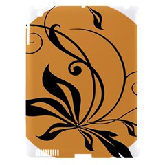 Black Brown Floral Symbol Apple Ipad 3/4 Hardshell Case (compatible With Smart Cover) by Mariart