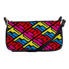Color Red Yellow Blue Graffiti Shoulder Clutch Bags by Mariart