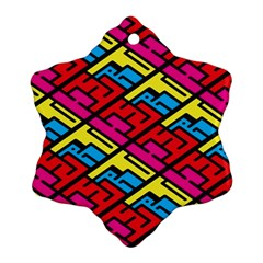 Color Red Yellow Blue Graffiti Ornament (snowflake) by Mariart