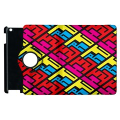 Color Red Yellow Blue Graffiti Apple Ipad 2 Flip 360 Case by Mariart