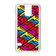Color Red Yellow Blue Graffiti Samsung Galaxy S5 Case (white) by Mariart