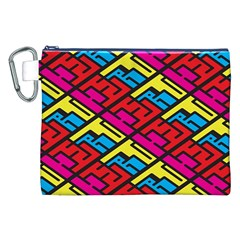 Color Red Yellow Blue Graffiti Canvas Cosmetic Bag (xxl) by Mariart