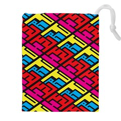 Color Red Yellow Blue Graffiti Drawstring Pouches (xxl) by Mariart