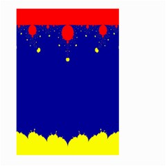 Critical Points Line Circle Red Blue Yellow Large Garden Flag (two Sides) by Mariart