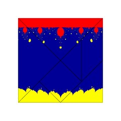 Critical Points Line Circle Red Blue Yellow Acrylic Tangram Puzzle (4  X 4 ) by Mariart