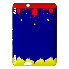 Critical Points Line Circle Red Blue Yellow Kindle Fire Hdx Hardshell Case by Mariart
