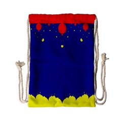 Critical Points Line Circle Red Blue Yellow Drawstring Bag (small) by Mariart