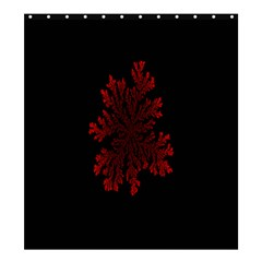 Dendron Diffusion Aggregation Flower Floral Leaf Red Black Shower Curtain 66  X 72  (large)  by Mariart