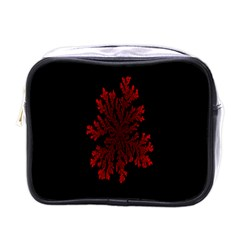 Dendron Diffusion Aggregation Flower Floral Leaf Red Black Mini Toiletries Bags by Mariart