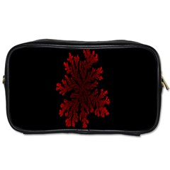 Dendron Diffusion Aggregation Flower Floral Leaf Red Black Toiletries Bags 2 Side by Mariart