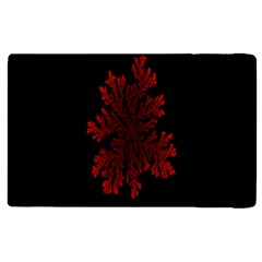 Dendron Diffusion Aggregation Flower Floral Leaf Red Black Apple Ipad 2 Flip Case by Mariart