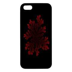 Dendron Diffusion Aggregation Flower Floral Leaf Red Black Iphone 5s/ Se Premium Hardshell Case by Mariart