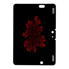 Dendron Diffusion Aggregation Flower Floral Leaf Red Black Kindle Fire Hdx 8 9  Hardshell Case by Mariart
