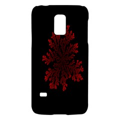 Dendron Diffusion Aggregation Flower Floral Leaf Red Black Galaxy S5 Mini by Mariart