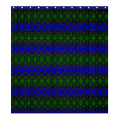 Diamond Alt Blue Green Woven Fabric Shower Curtain 66  X 72  (large)  by Mariart