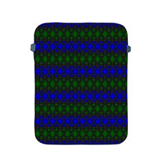 Diamond Alt Blue Green Woven Fabric Apple Ipad 2/3/4 Protective Soft Cases by Mariart