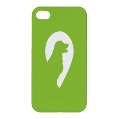 Dog Green White Animals Apple Iphone 4/4s Hardshell Case by Mariart
