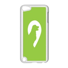 Dog Green White Animals Apple Ipod Touch 5 Case (white) by Mariart