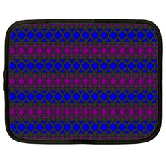 Diamond Alt Blue Purple Woven Fabric Netbook Case (large) by Mariart