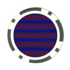 Diamond Alt Blue Purple Woven Fabric Poker Chip Card Guard (10 Pack) by Mariart