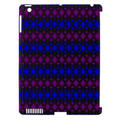Diamond Alt Blue Purple Woven Fabric Apple Ipad 3/4 Hardshell Case (compatible With Smart Cover) by Mariart
