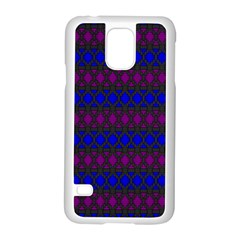 Diamond Alt Blue Purple Woven Fabric Samsung Galaxy S5 Case (White) by Mariart