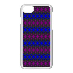 Diamond Alt Blue Purple Woven Fabric Apple Iphone 7 Seamless Case (white) by Mariart