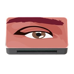 Eye Difficulty Red Memory Card Reader With Cf by Mariart