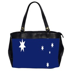 Flag Star Blue Green Yellow Office Handbags (2 Sides)  by Mariart